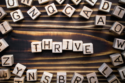 Thrive scrabble letters