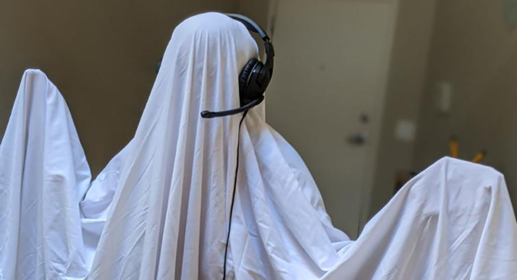 Ghost in headset